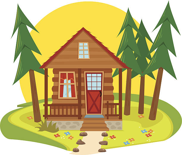 Best Cabin In The Woods Illustrations, Royalty.