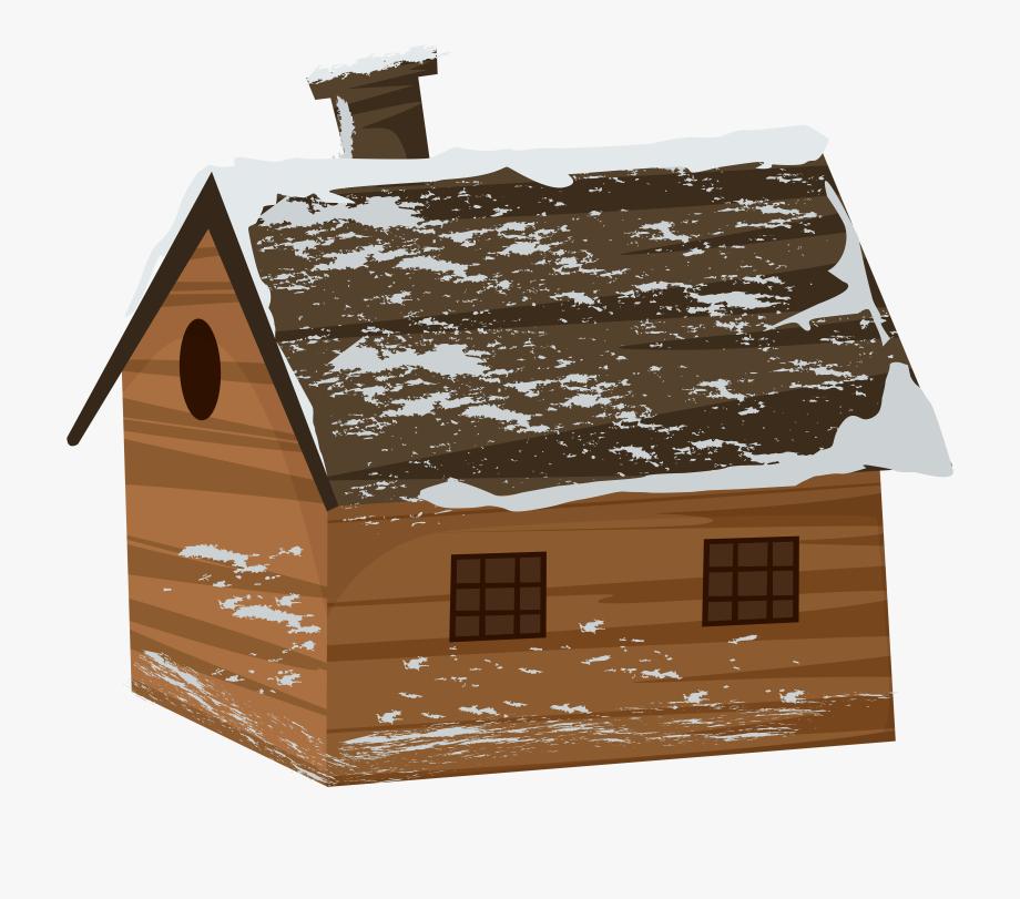 Winter Cabin House Transparent Png Clip Art Image.