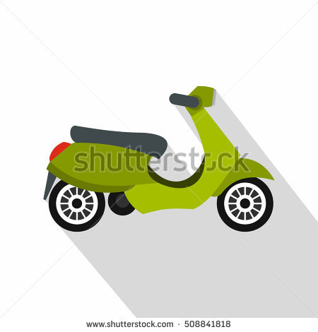 A Green Motor Scooter Stock Photos, Royalty.