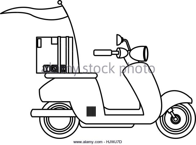 Scooter Black and White Stock Photos & Images.