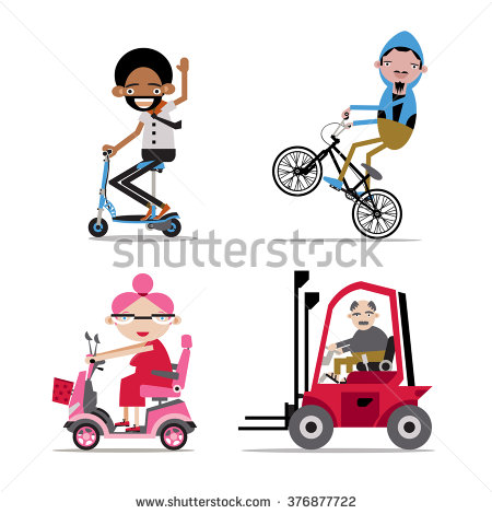 Disabled Scooter Stock Photos, Royalty.