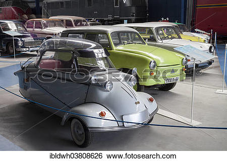 "Stock Images of ""Messerschmitt cabin scooter and the Lloyd 400."