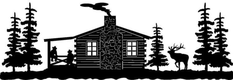 cabin silhouette clip art.