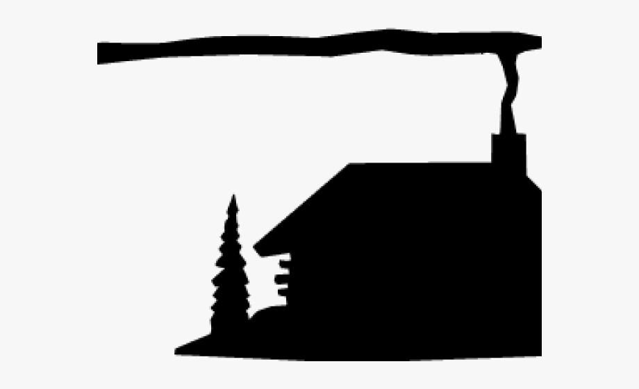 Cabin Clipart Silhouette.