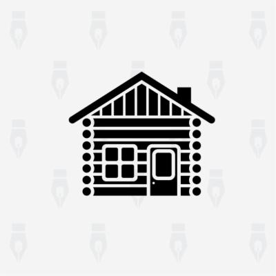 cabin silhouette clip art , Free clipart download.