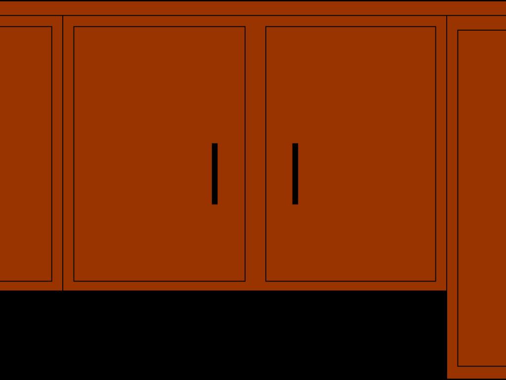 Kitchen cabinet clipart.