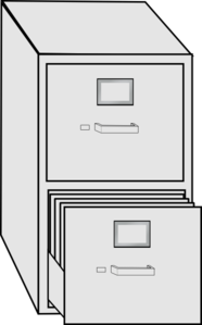 Filing cabinet clipart free.