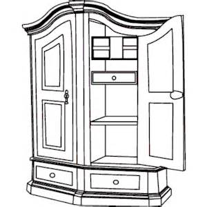 Cabinet clipart black and white.