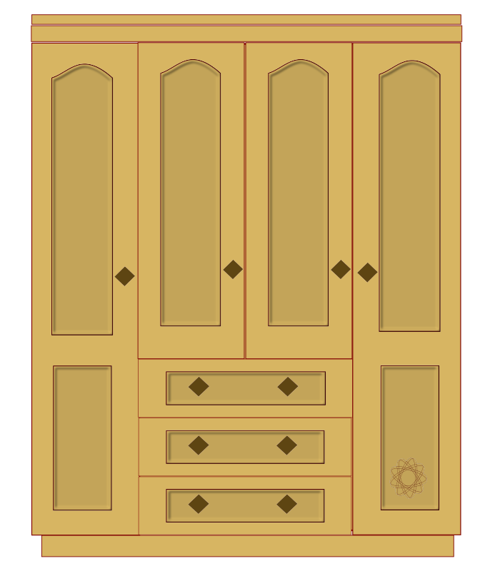 Open Cabinet Clipart.