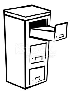 File Cabinet With Open stock vectors.