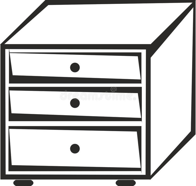 Black File Cabinet Stock Illustrations.