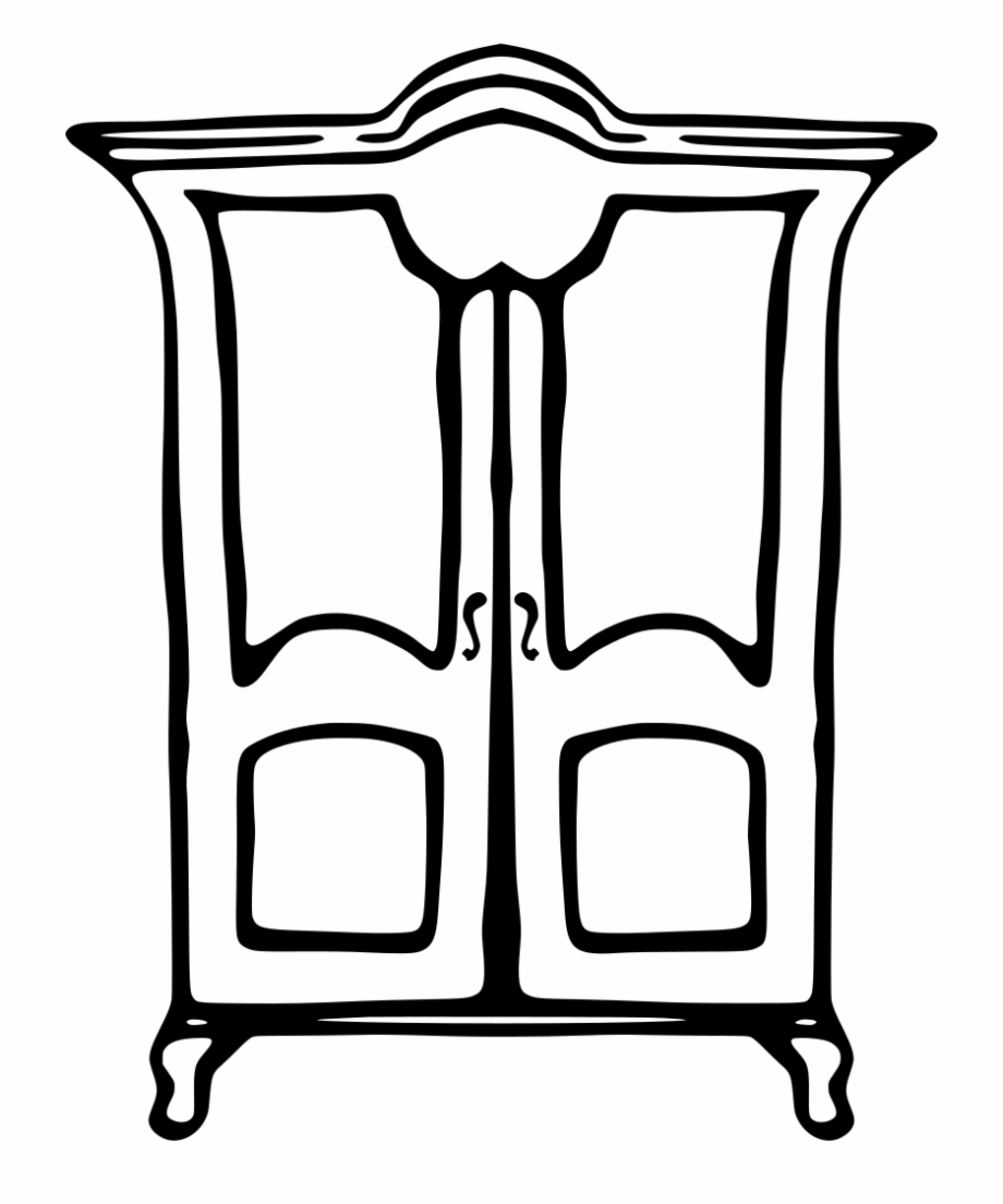 Cupboard Clipart Black And White, Transparent Png Download For Free.