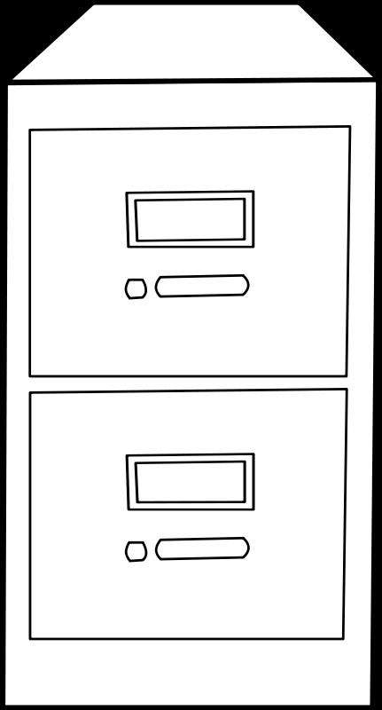 Free Clipart: Classeur vertical / Vertical File Cabinet.
