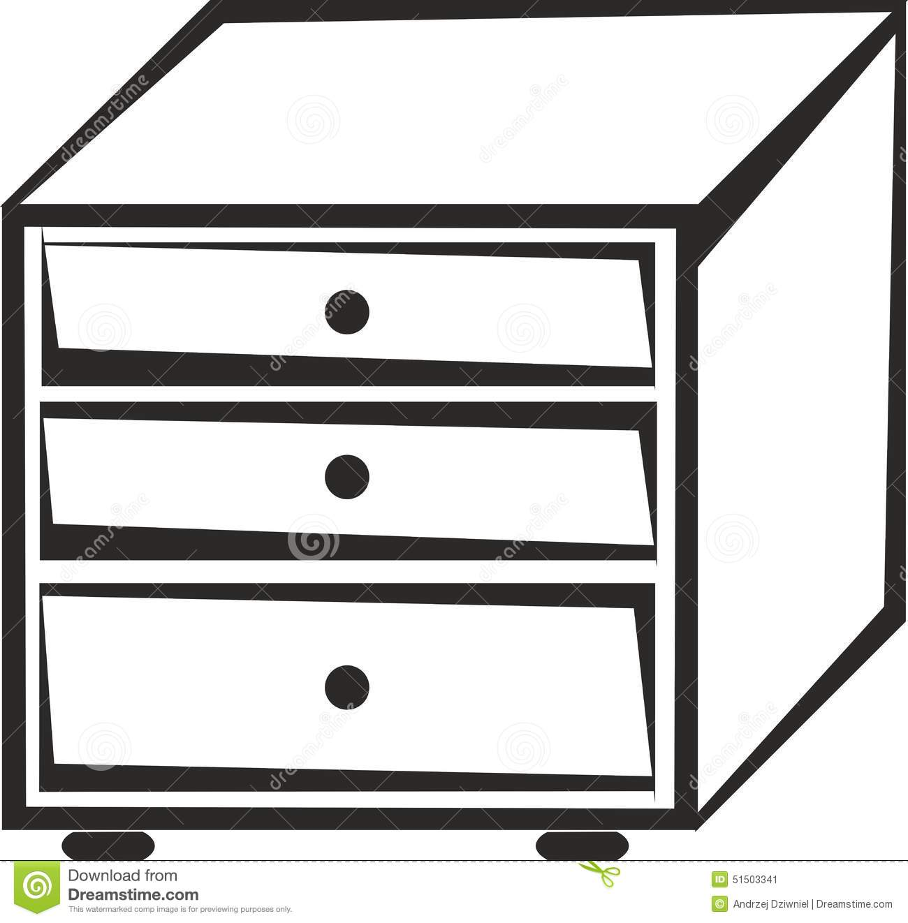 Cabinet with drawers stock vector. Illustration of isolated.