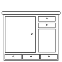 Kitchen Cabinet Clipart Black And White.