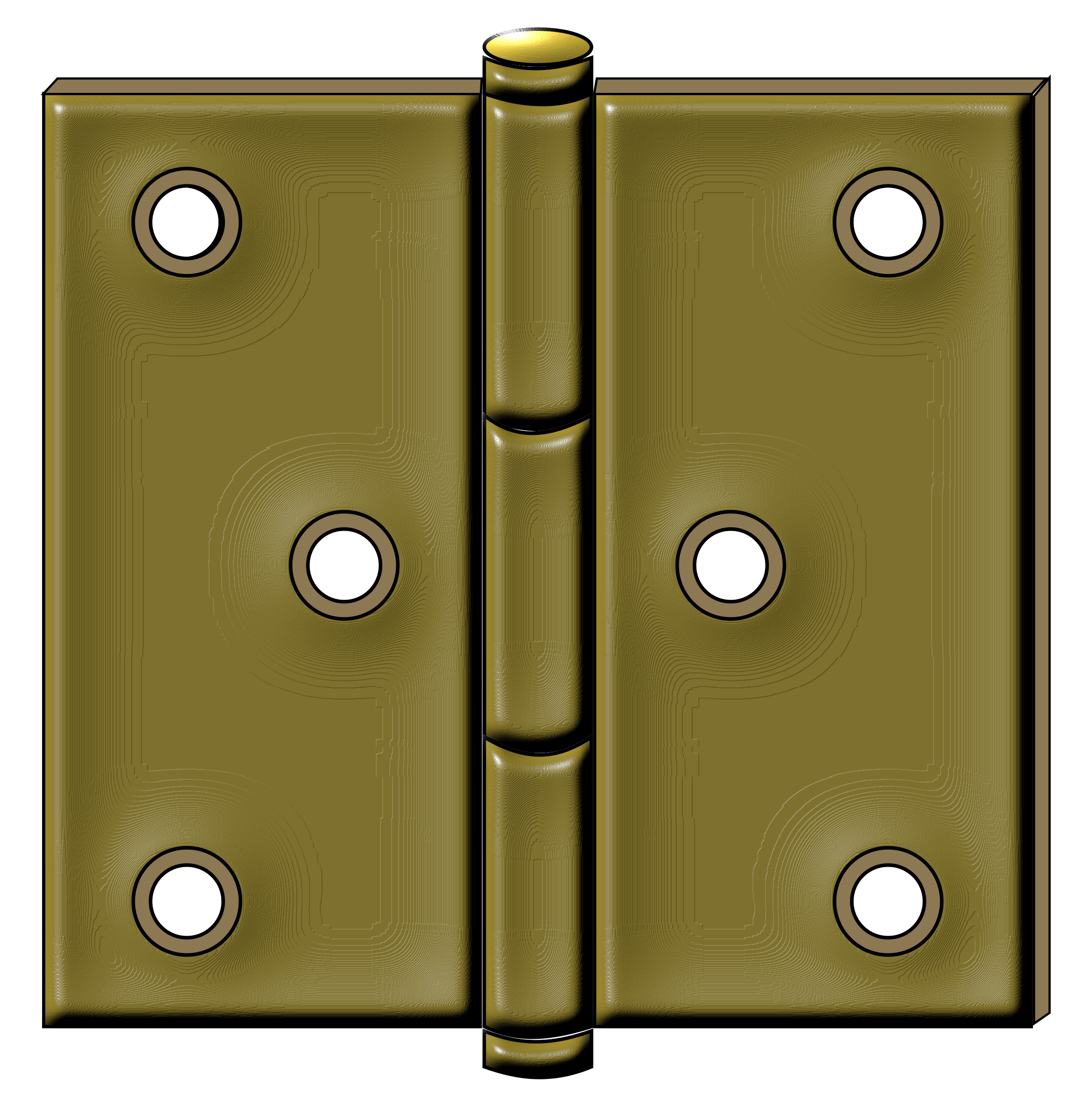 Iron door hardware transparent clipart.