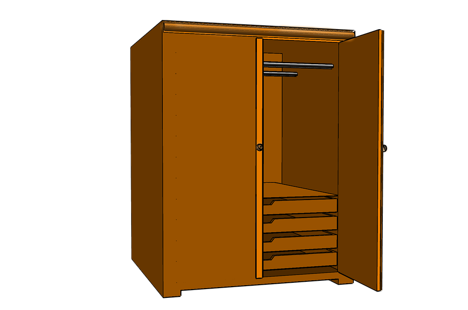 Closet Wardrobe Cupboard.