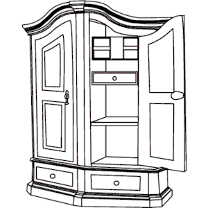 Clipart Kitchen Cabinets Black And White