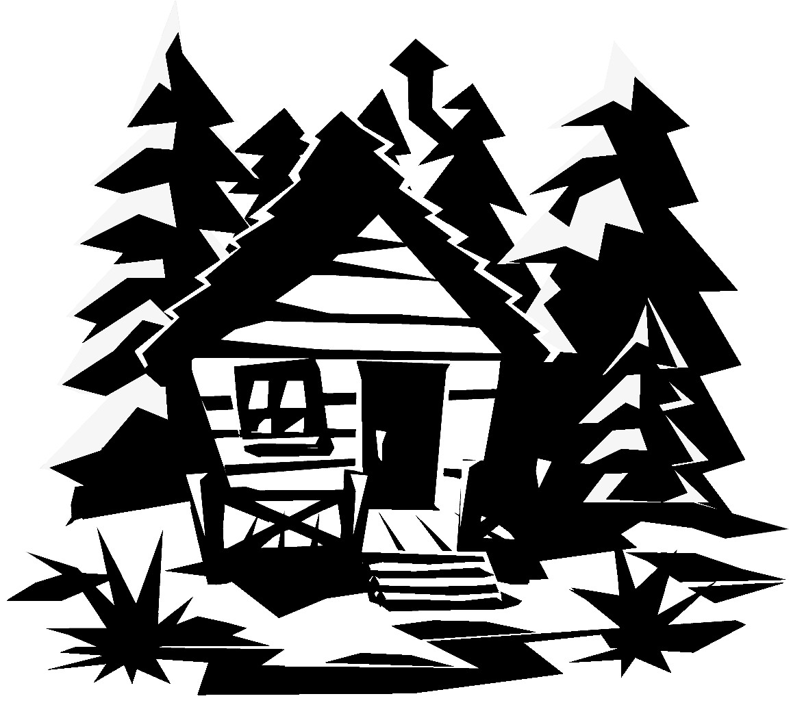 Country cabin clipart.
