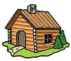 Clip art log cabins.