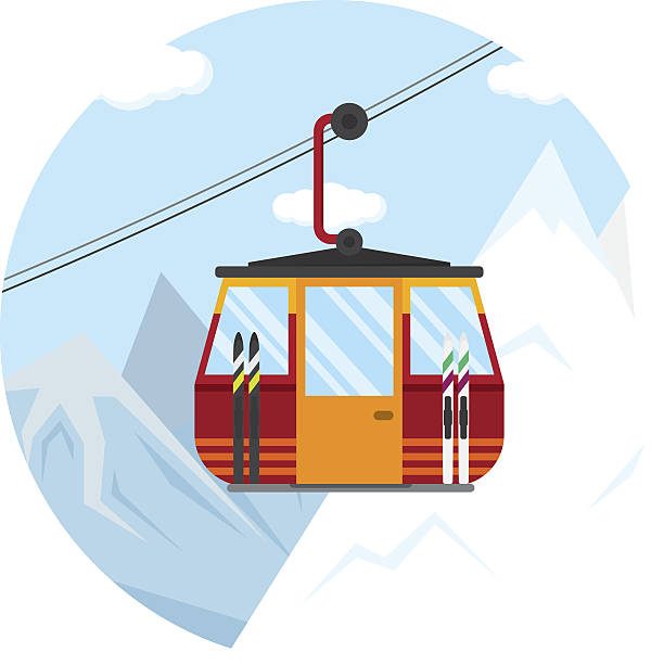 Best Overhead Cable Car Illustrations, Royalty.