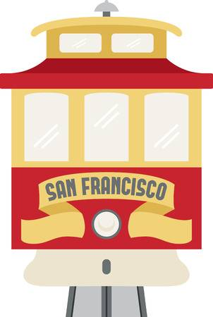 88 San Francisco Cable Car Stock Vector Illustration And Royalty.