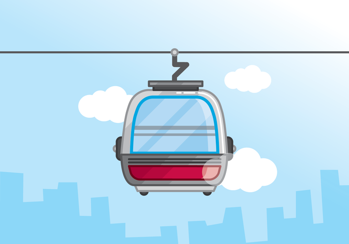 Cable Car Vector.