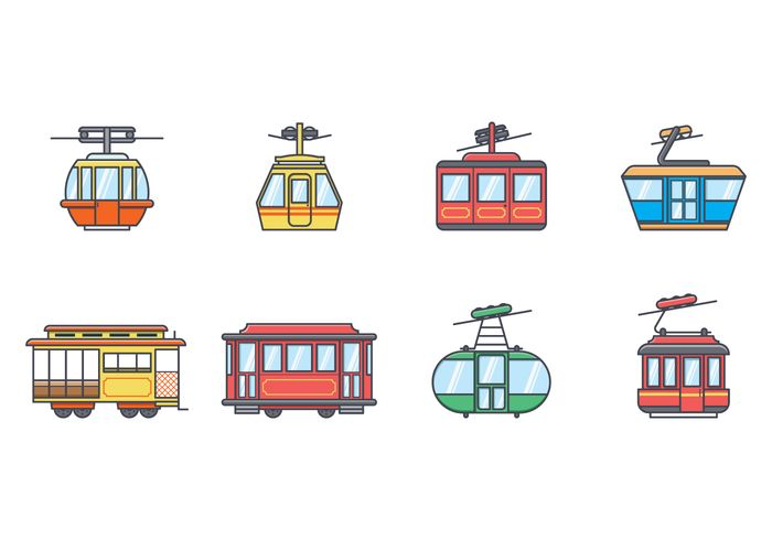 Free Cable Car Vector.