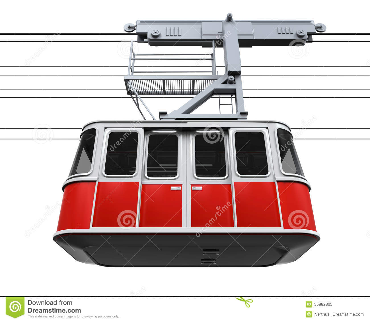Cablecar Stock Illustrations.