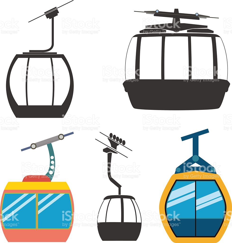 Ski Cable Car stock vector art 504857216.