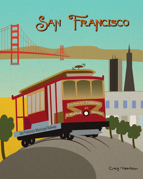 Cable Car San Francisco Clipart.