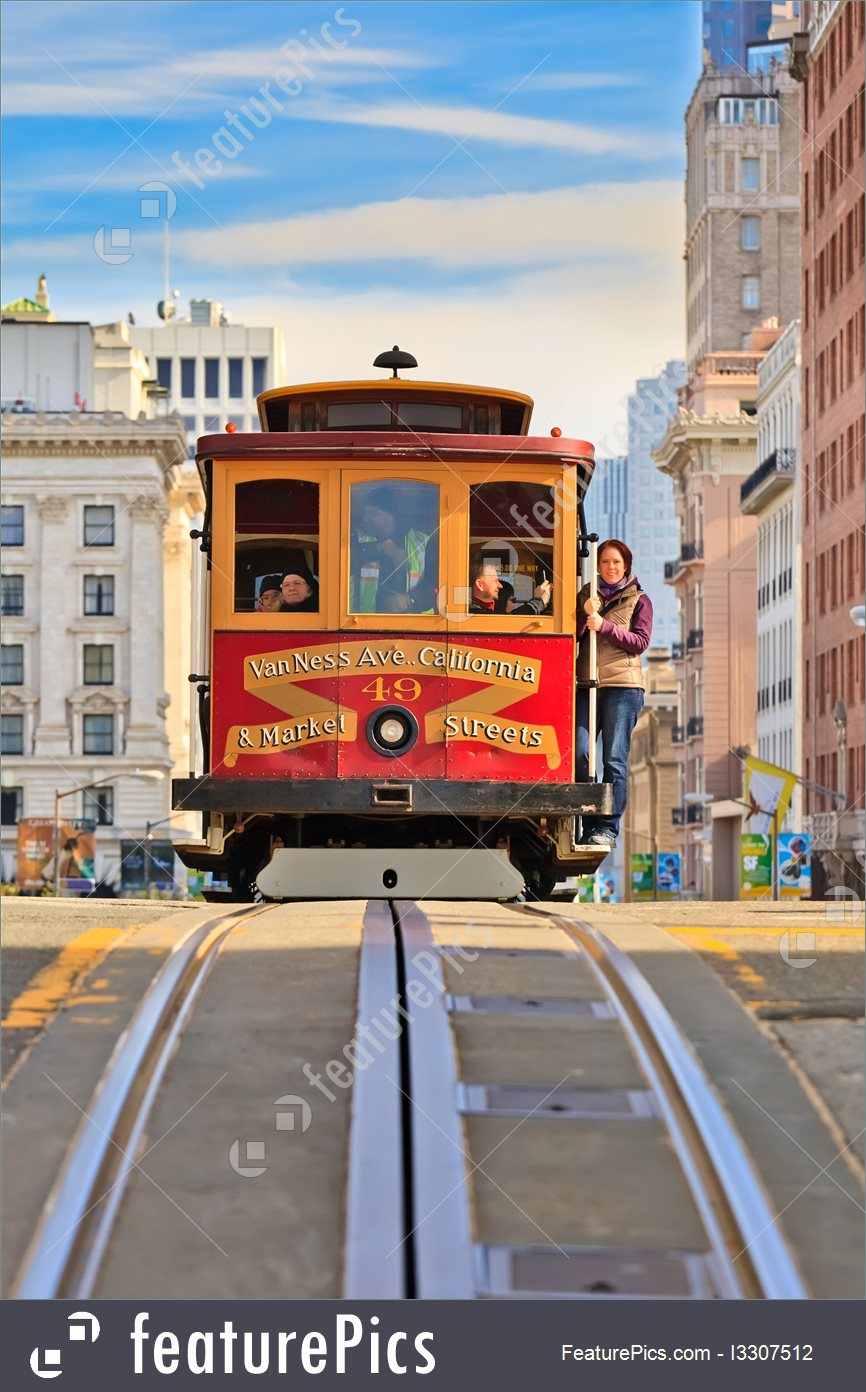 Cable Transport: Cable Car In San Francisco.