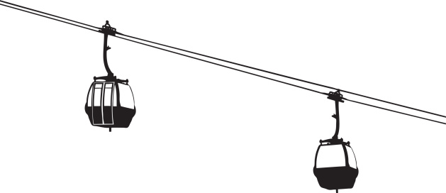 Cable cars clipart.
