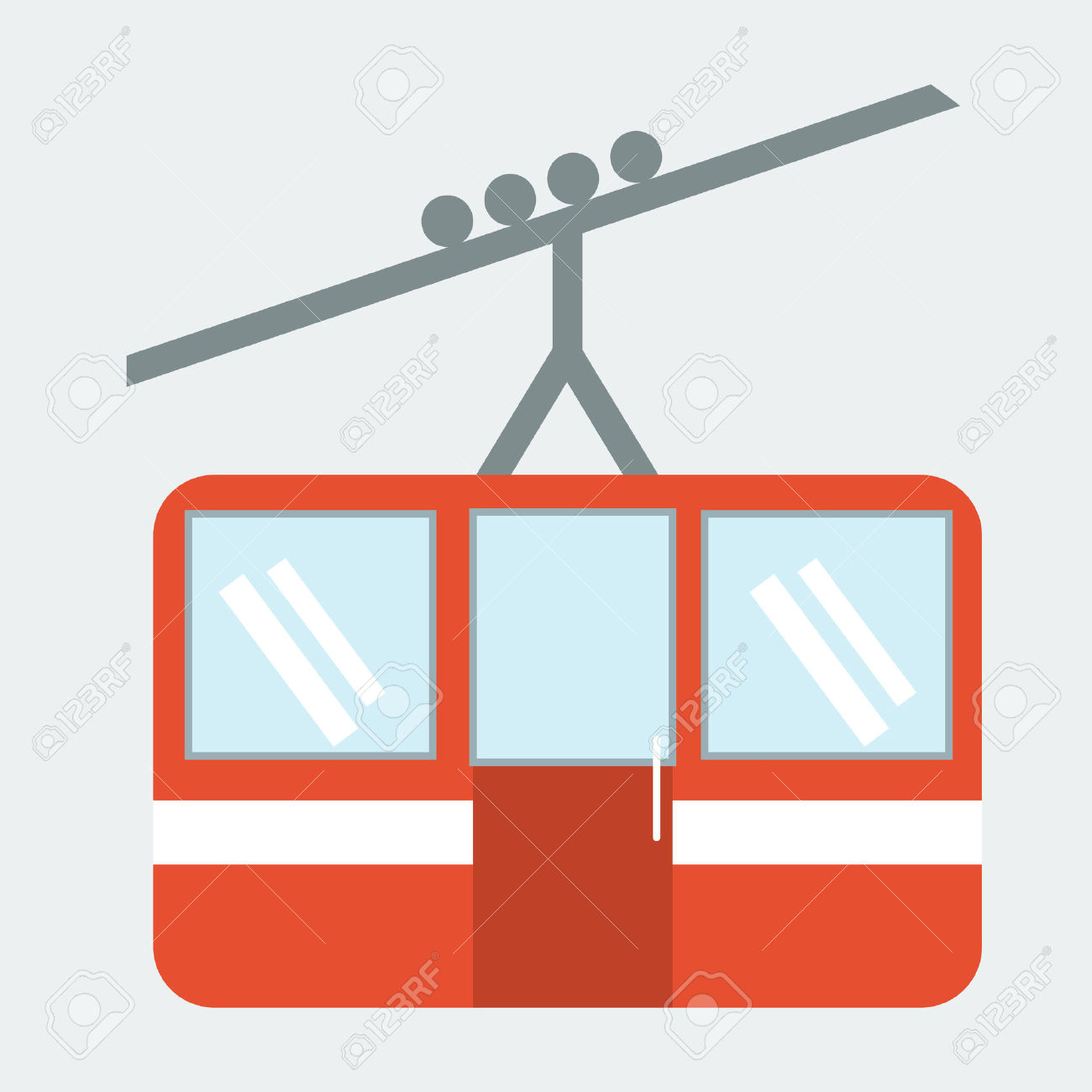 Funicular Cable Car Illustration Royalty Free Cliparts, Vectors.