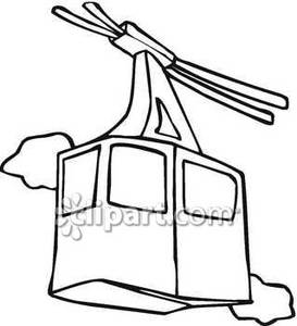 Cartoon cable car clipart.