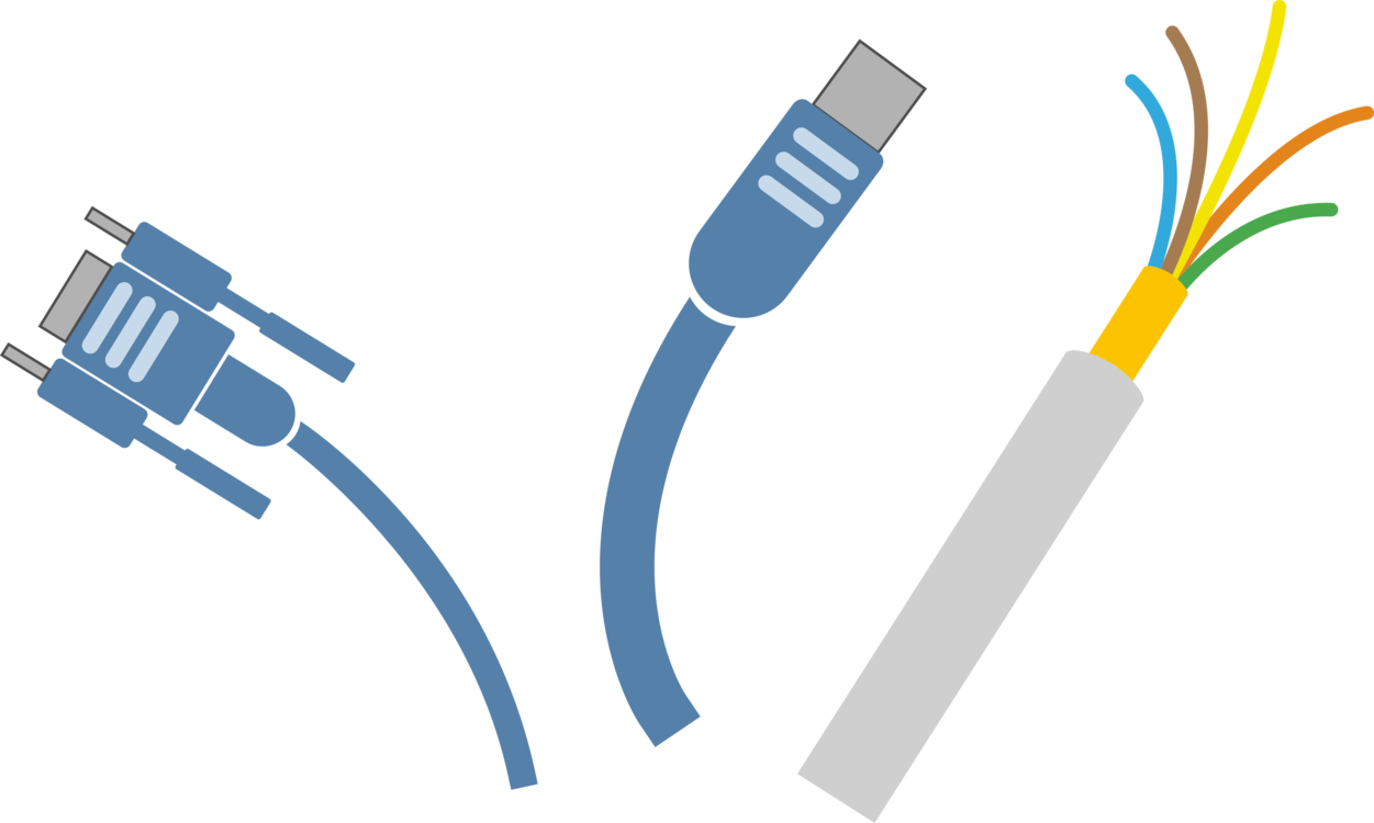 Networking Cables,Electronics Accessory,Cable Vector Clipart.