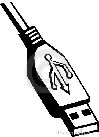 Usb cable clipart.