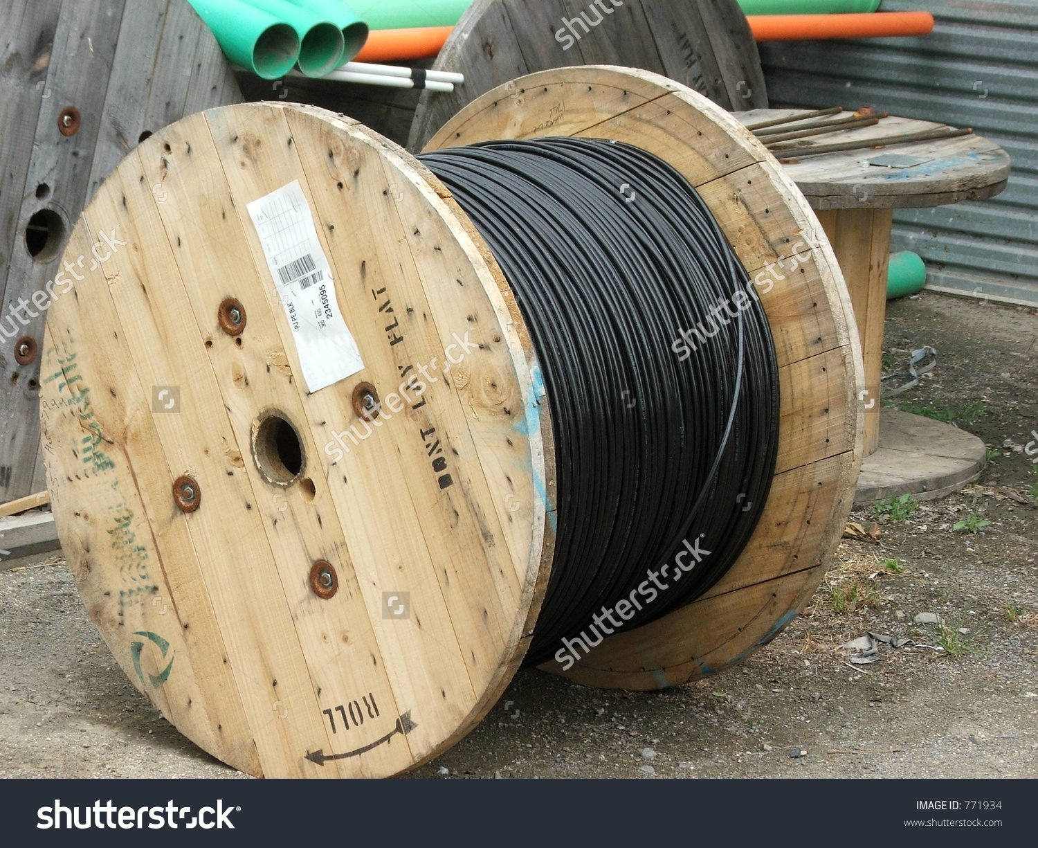 Cable Drum Stock Photo 771934.