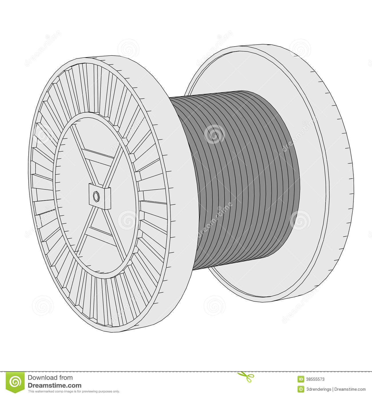 Image Of Wire Spool Stock Images.