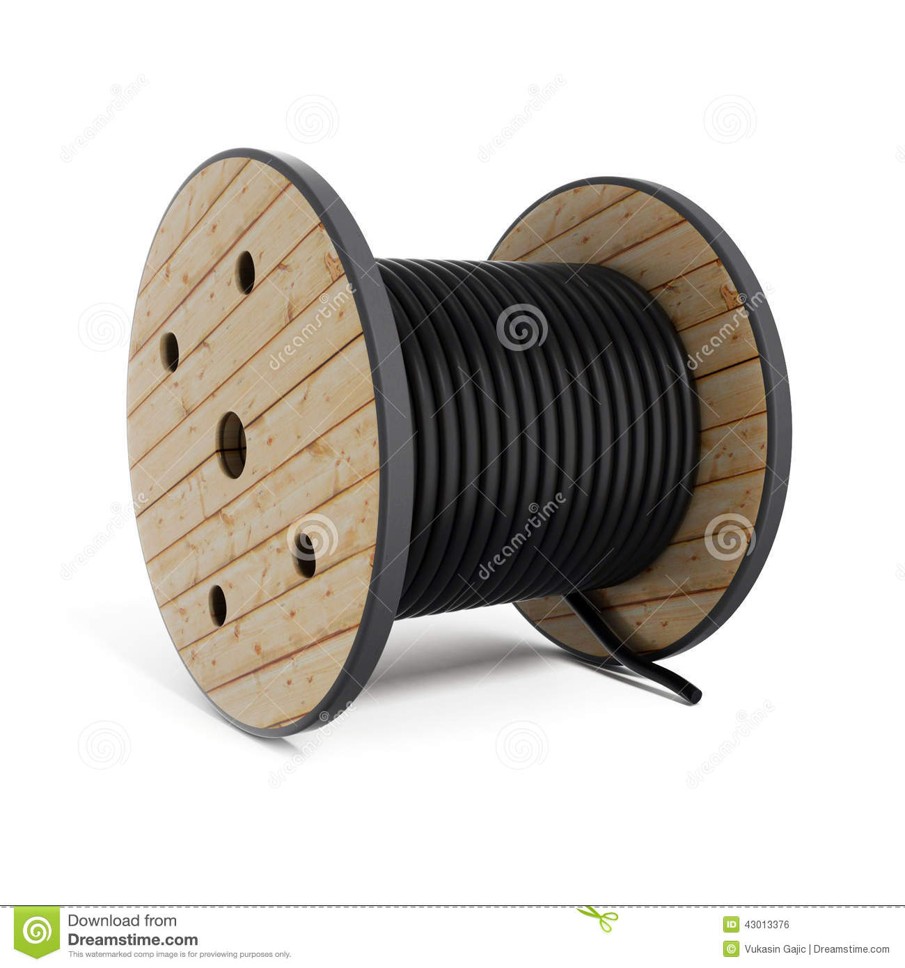 Cable Reel Stock Illustrations.