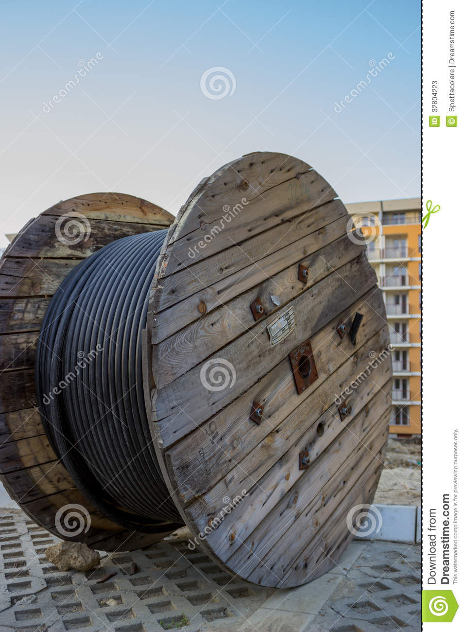 Cable Drum Stock Photos.