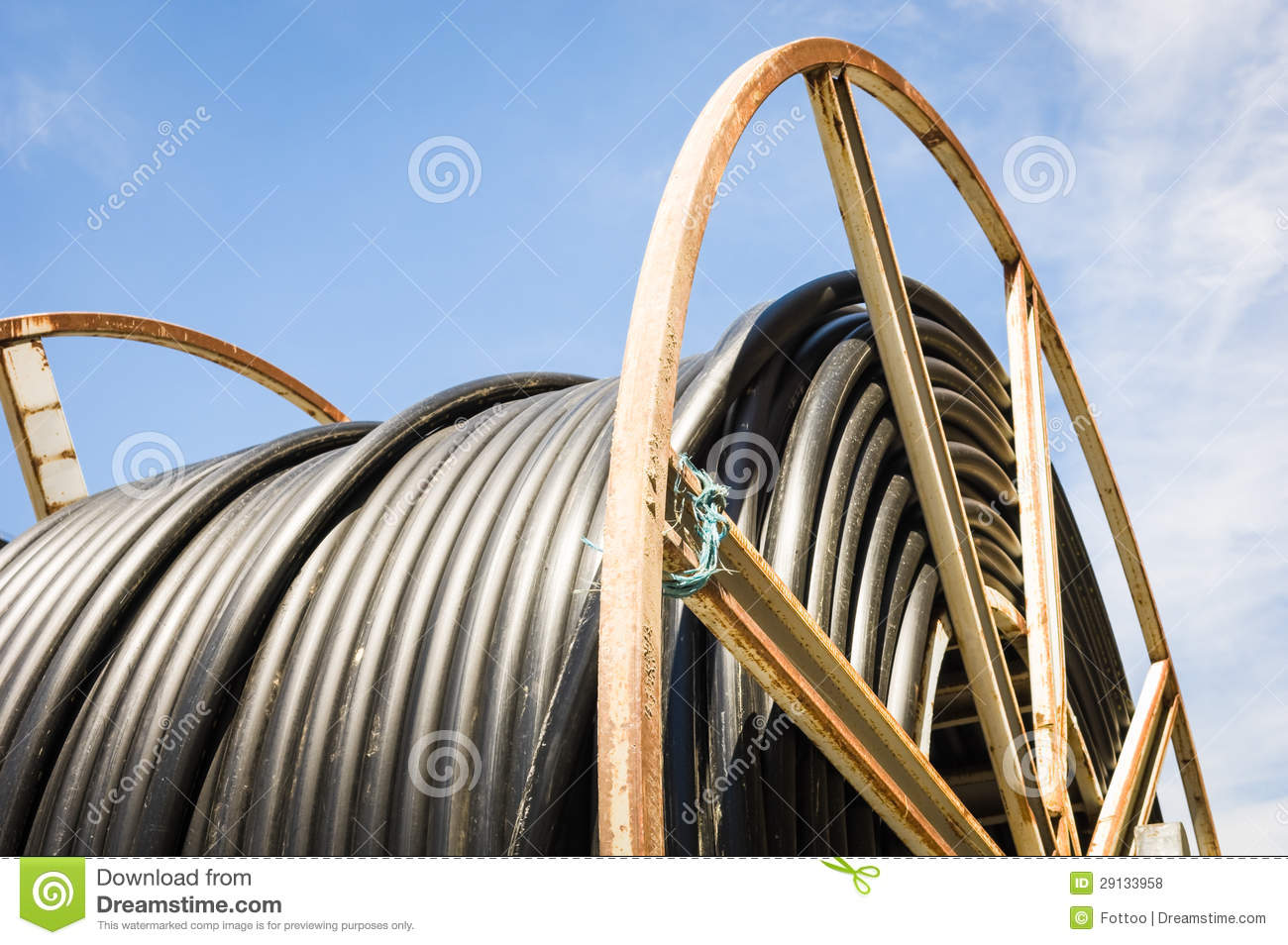 Cable Drum Royalty Free Stock Photos.