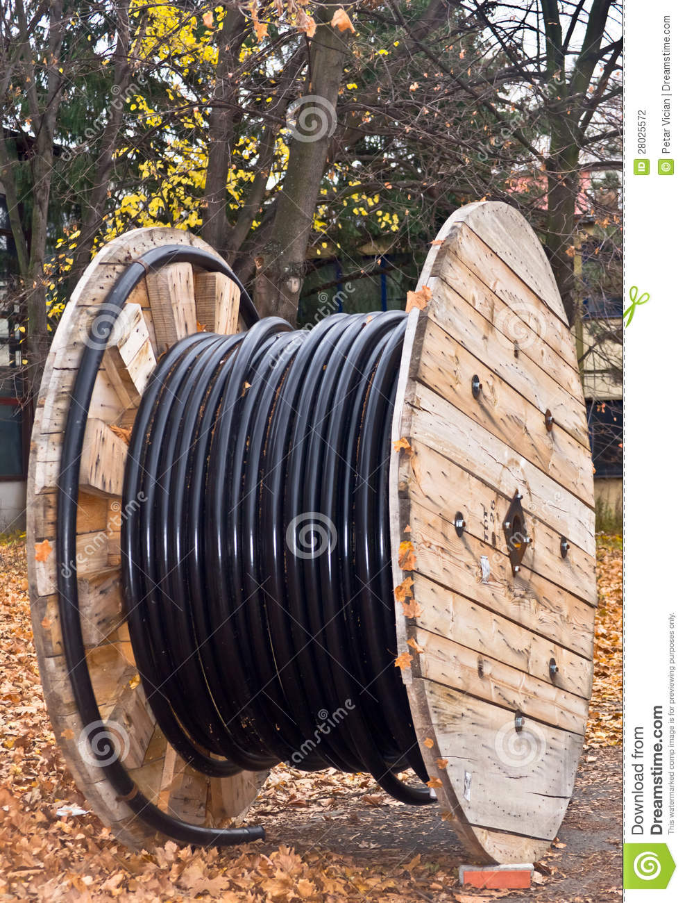 Cable Drum Coil Electrical Isolated Cable Stock Photography.