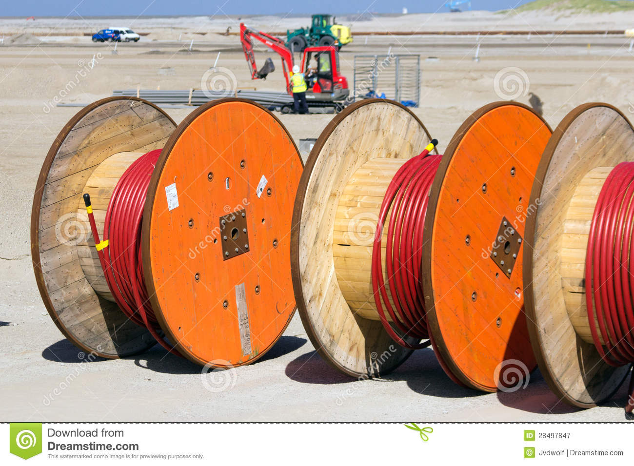 Wooden Cable Reel Stock Photos, Images, & Pictures.