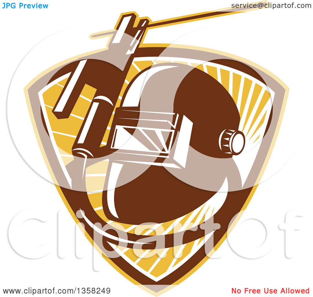 Clipart of a Retro Welder Visor Mask, Rold Holder with Cable and.