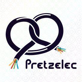 Pretzel Electric Cable #logo #design #inspiration.