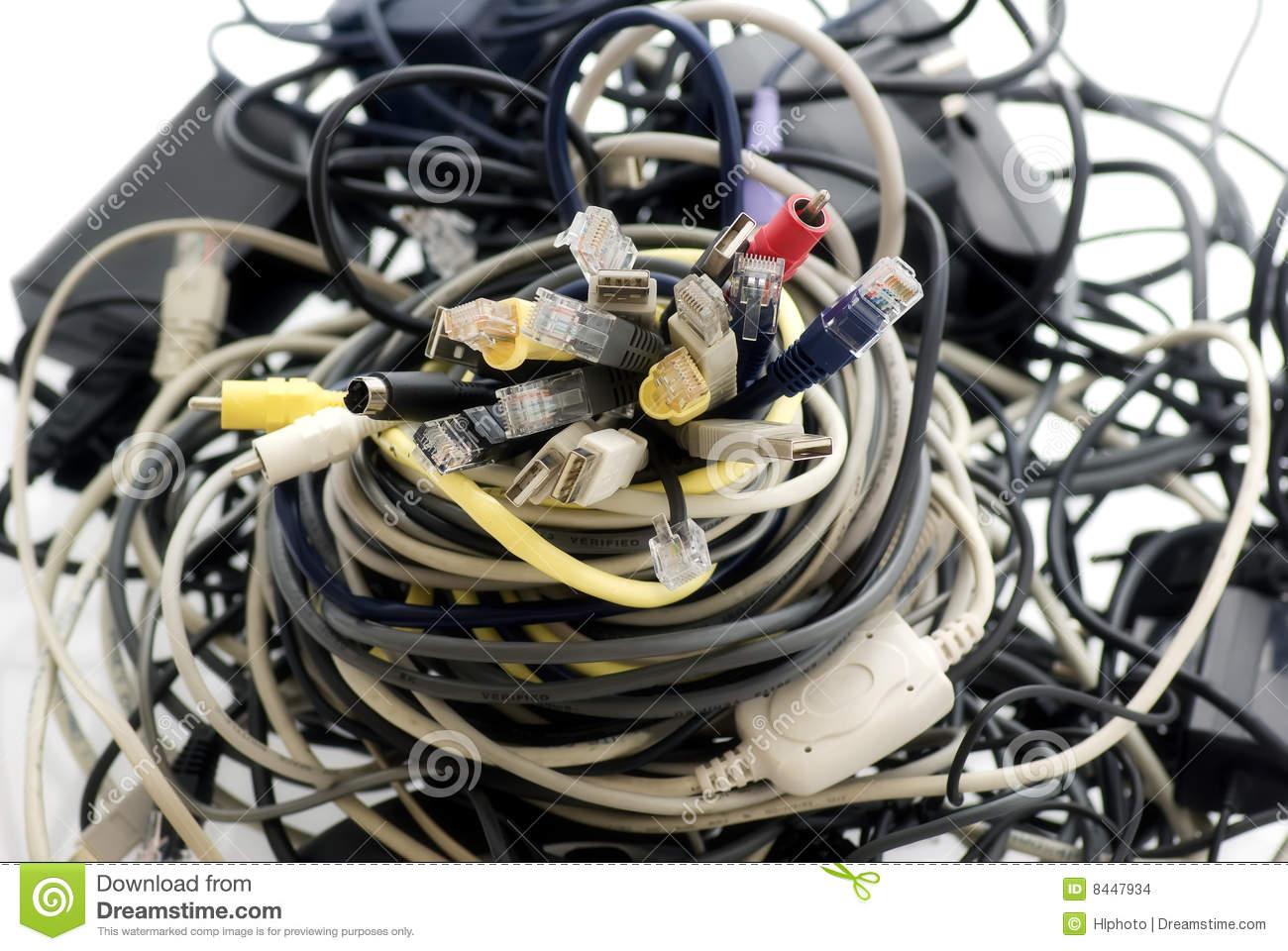 Cable Salad Stock Images.
