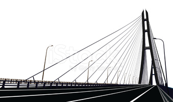 Cable Stayed Bridge stock vectors.