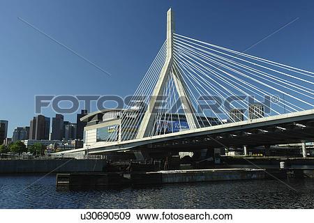 Stock Photograph of Boston, MA, Massachusetts, Downtown, Charles.