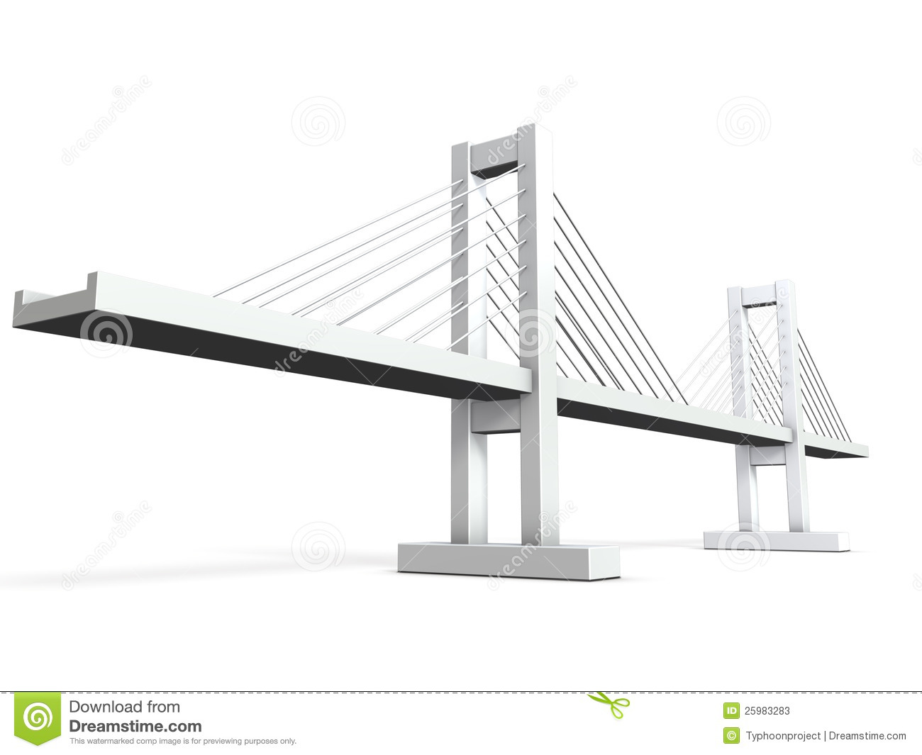 Cable Stayed Bridge Stock Illustrations.